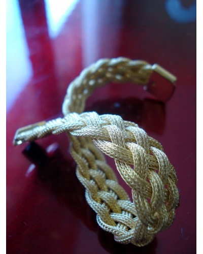 Bracelet Tresse large or jaune 750 Caplain Saint André