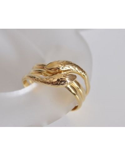 Bague 2 serpents or jaune 750