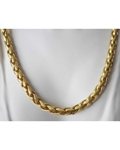 Collier palmier or jaune 750 Gay Frères