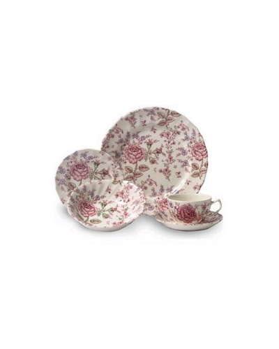 6 assiettes creuses calottes 19 cm Rose Chintz Johnson Brothers