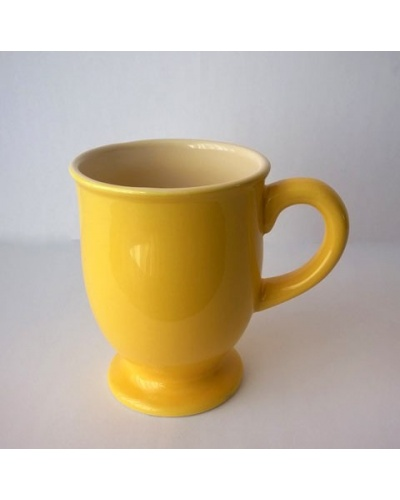 Boite 6 mugs jaunes London Pottery